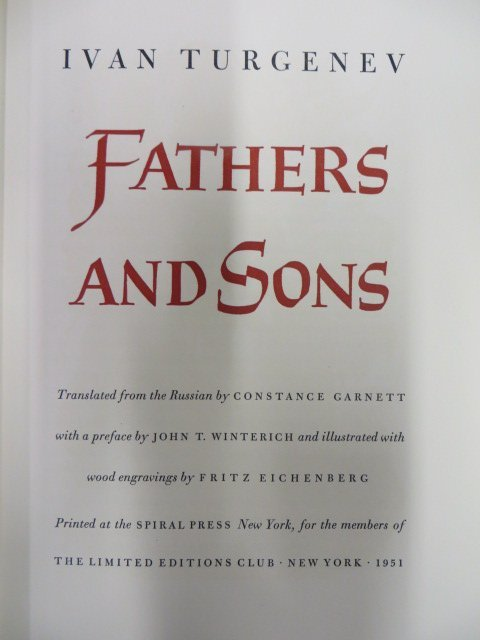 Turgenev, Ivan. Fathers and Sons. 1951
