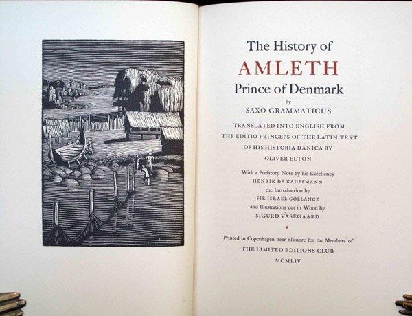 Grammaticus. Amleth. 1954 Signed