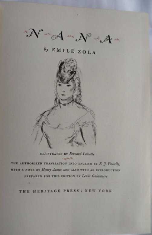 Zola, Emile. Nana. 1948 Signed LEC