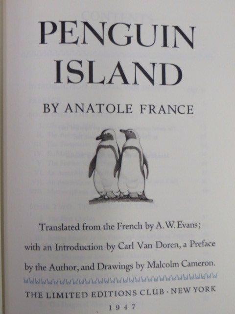 France, Anatole. Penguin Island. 1947
