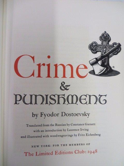 Dostoevsky. Crime & Punishment. 2 Vols.1948