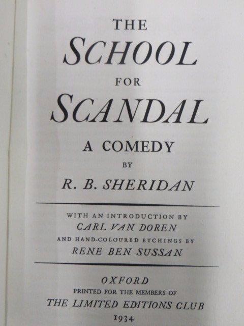 Sheridan. School for Scandal. 1934