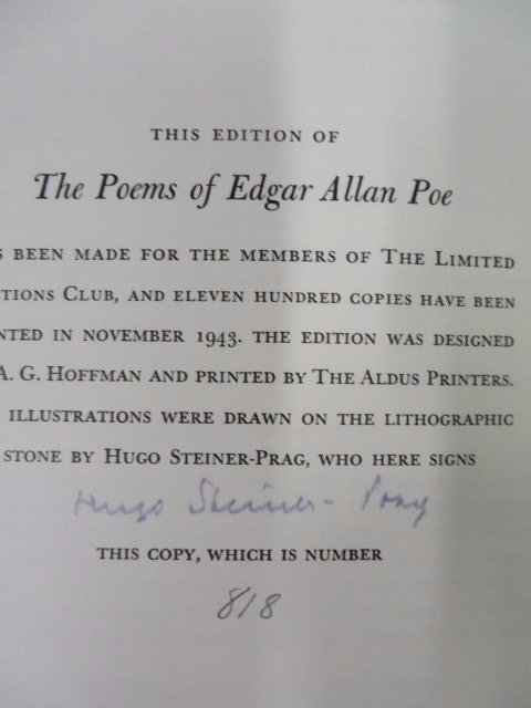 Poems of Edgar Allen Poe. LEC. 1943 - 6