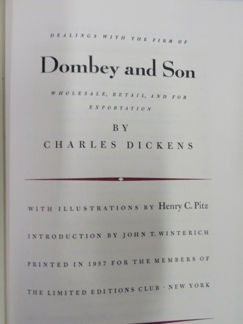 Dickens. Charles. Dombey & Son.  Illus. 1957
