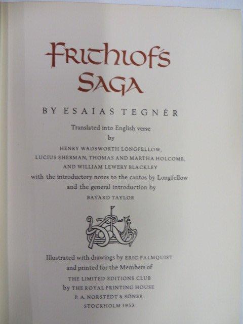 Esaiastegner. Frithiof's Saga. 1953. Illus.