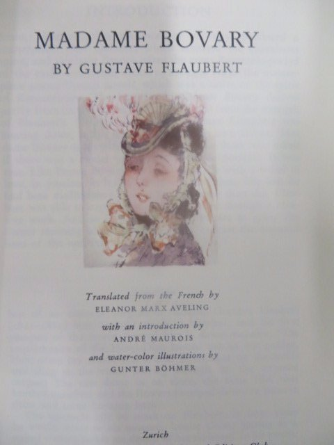 Flaubert.  Madame Bovary. Illus. 1938. LEC