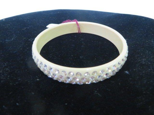 Bakelite Bracelet Mounted With Rhinestones