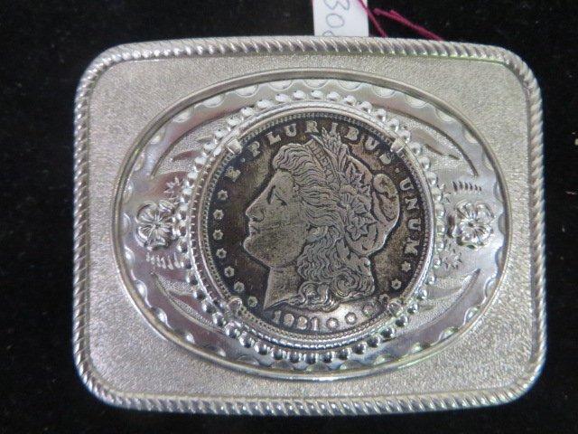 Belt Buckle. 1921 Morgan Silver Dollar