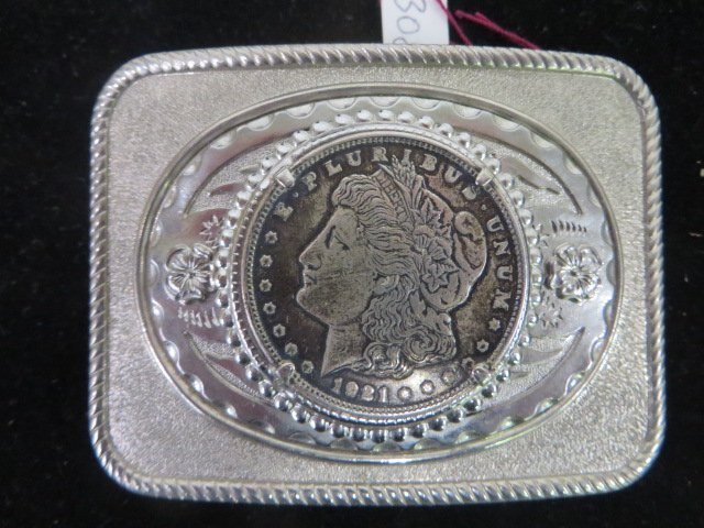 Belt Buckle. 1921 Morgan Silver Dollar