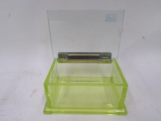 Vaseline Glass Hinged Box - 2