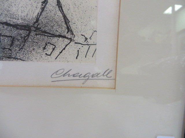 "Chagall Lithograph. ""Le Poisson Bleu"" Signed - 4"