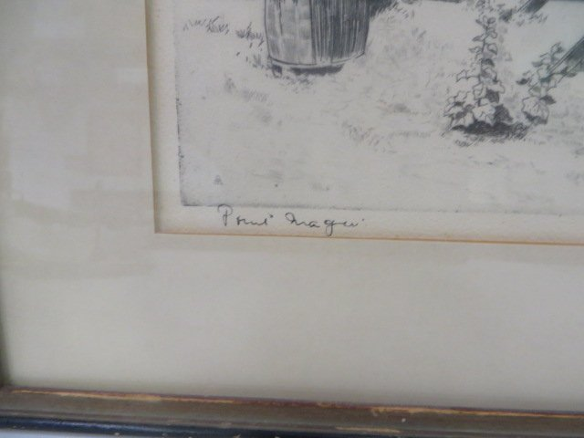 Lionel Barrymore Etching.Point Magu. Sgd. - 3