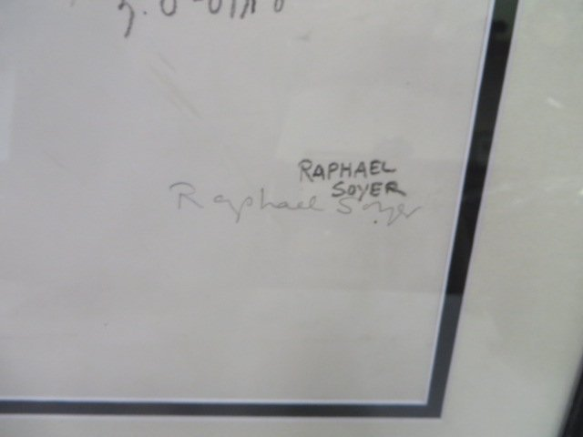 Raphael Soyer Lithograph. Signed - 3