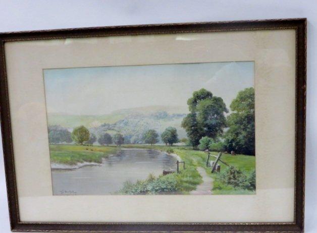 Richard H. Burfoot. Watercolor. Signed