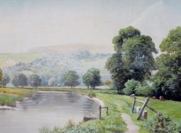 Richard H. Burfoot. Watercolor. Signed - 2