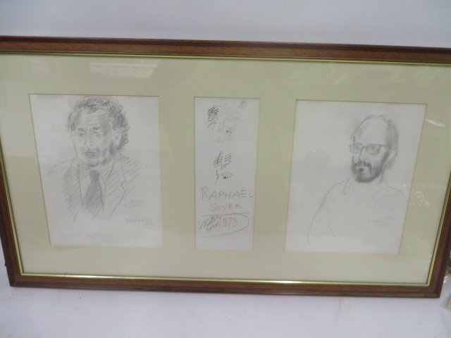 Raphael Soyer Drawings. From Sketch Book. Sgd.