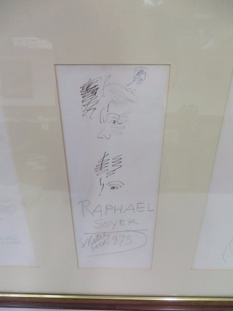 Raphael Soyer Drawings. From Sketch Book. Sgd. - 3