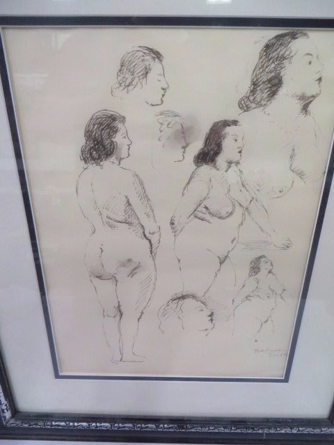 Raphael Soyer Watercolor. Nudes.Signed - 2