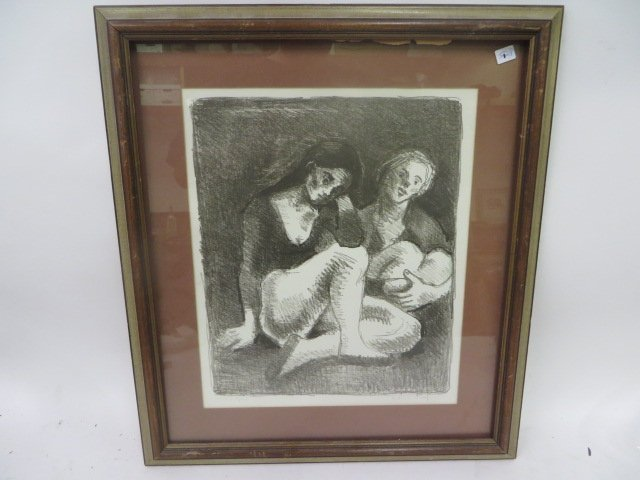 Moses Soyer. Artist Proof. Signed