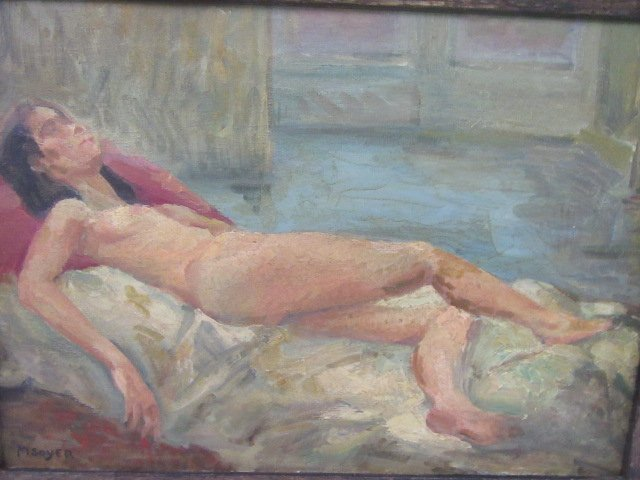 Moses Soyer. Oil. Nude. Signed - 3