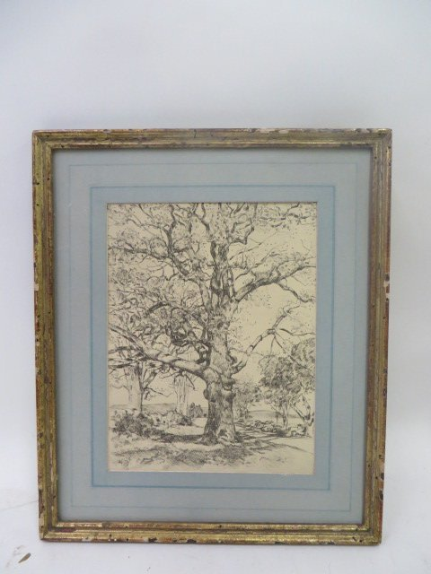 Childe Hassam. Etching. Signed