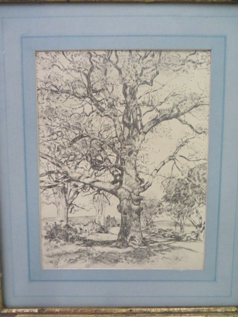 Childe Hassam. Etching. Signed - 3