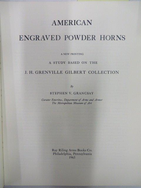 Grancsay. American Engraved Powderhorns