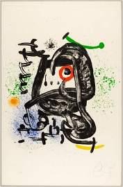 Joan Miro. Original Lithograph. Signed.