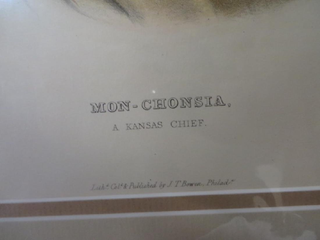 McKenney and Hall Indian Lithograph - 2