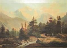 John Key. Oil. Western Landscape. Sgd.