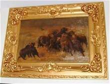 LeFavre. Western Oil, Cattle. C.. 1910. Sgd.