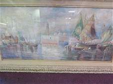 W. S. Haselton. Watercolor. Signed.