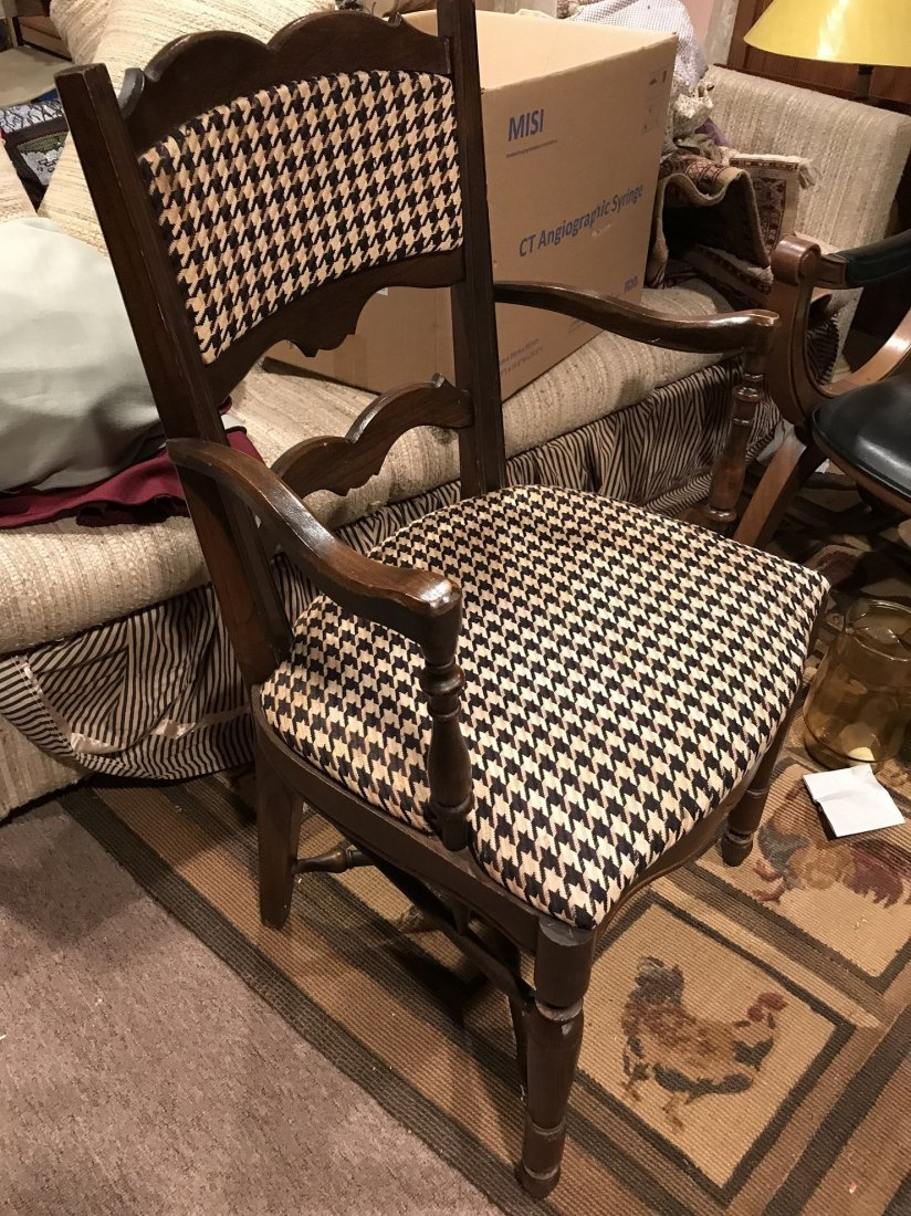 Vintage Houndstooth Arm Chair