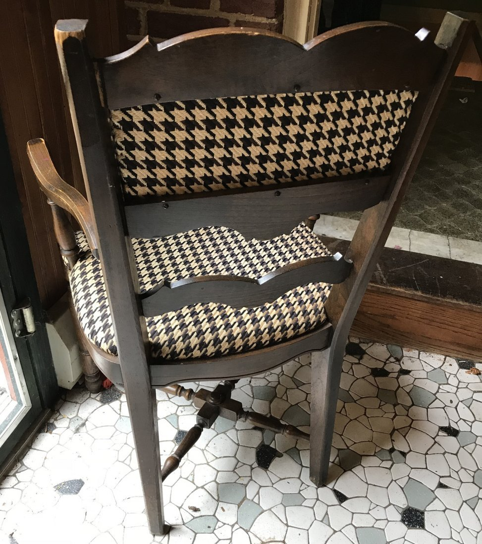 Vintage Houndstooth Arm Chair - 3