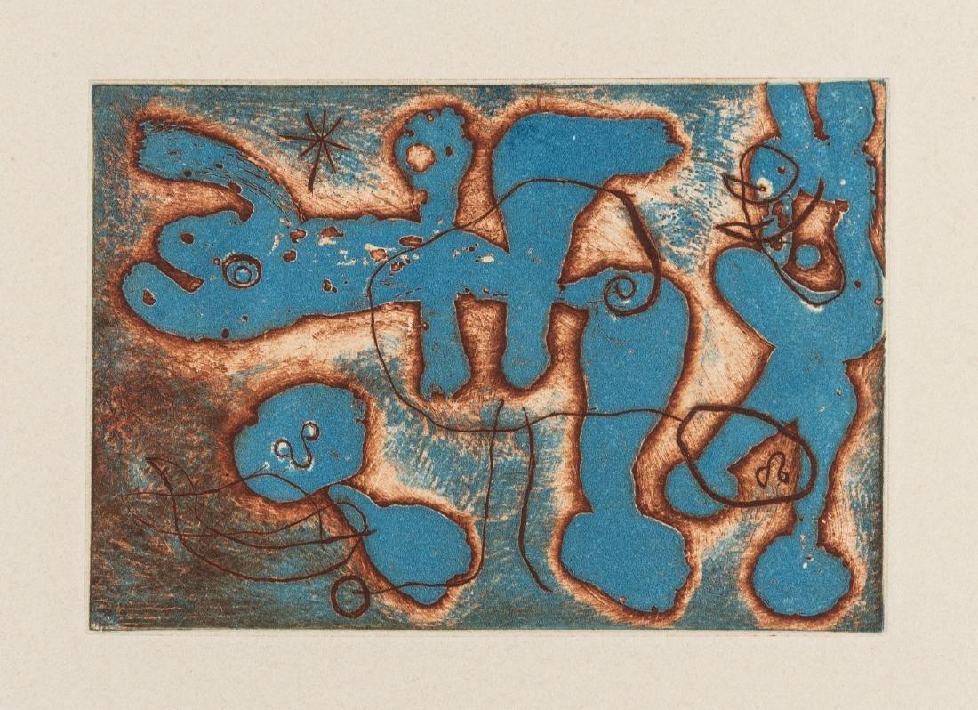 δ Joan Miro (1893-1983)  from Saccades (Cramer