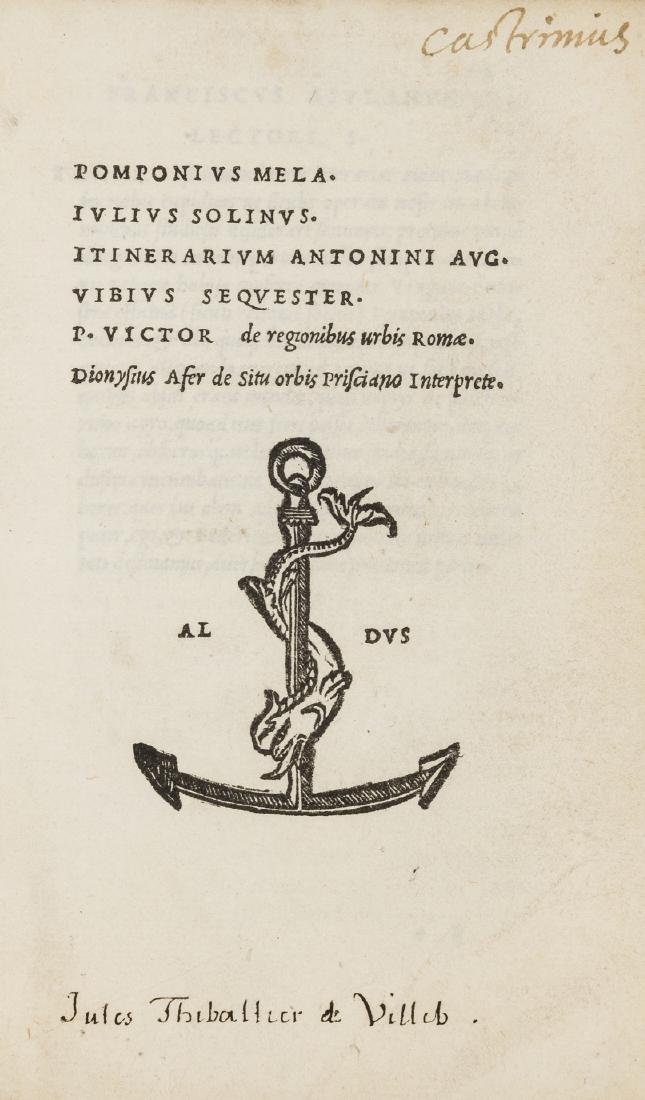 Mela (Pomponius) and others. De situ orbis, Venice, in