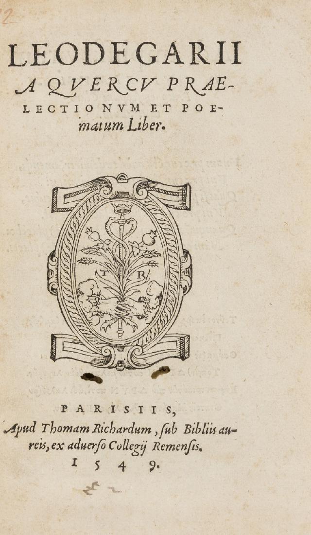 Duchesne (Leger) Praelectionum et poematum liber,