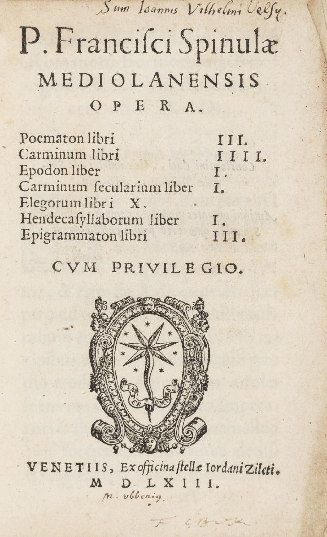 Spinula (Publio Francesco) Opera, Venice, Giordano