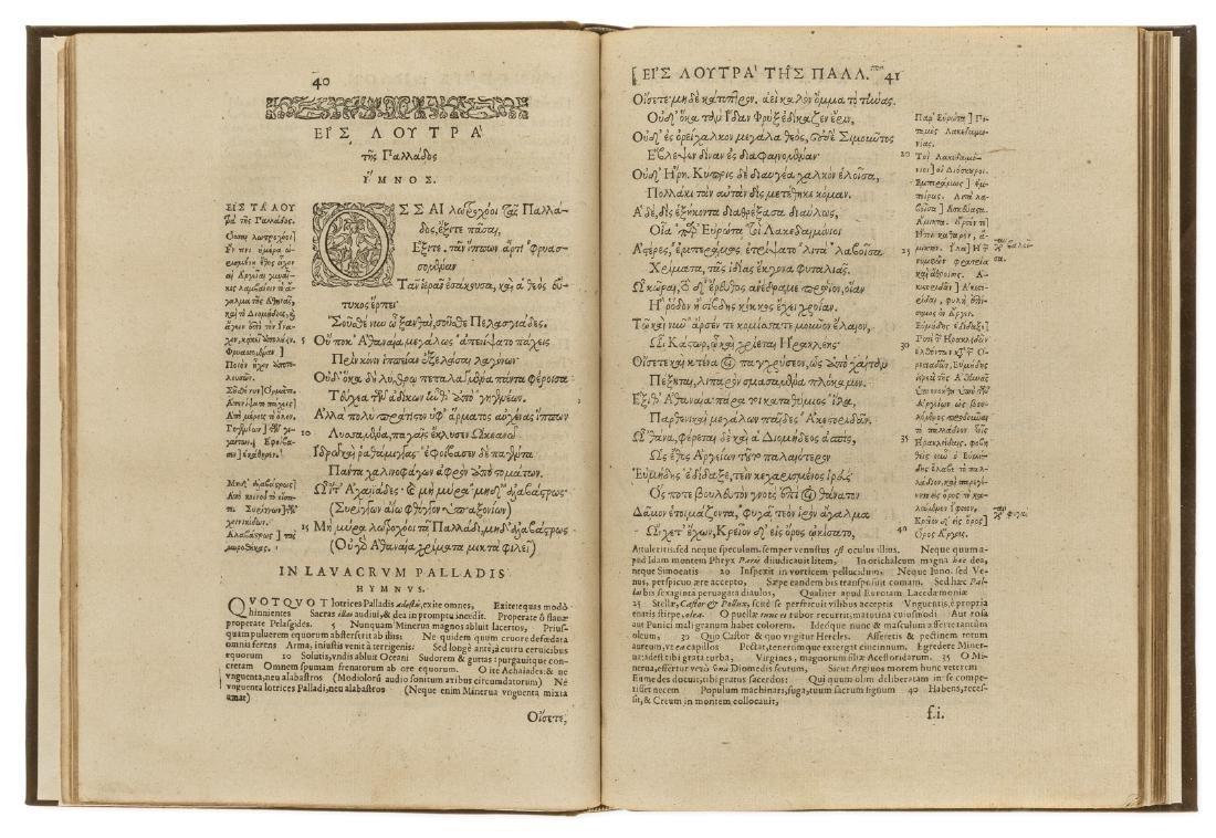 Callimachus. Hymni (cum suis scholiis Graecis) &