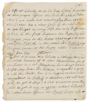 Tobacco Duty.- Walpole (Robert) A Letter from a Member
