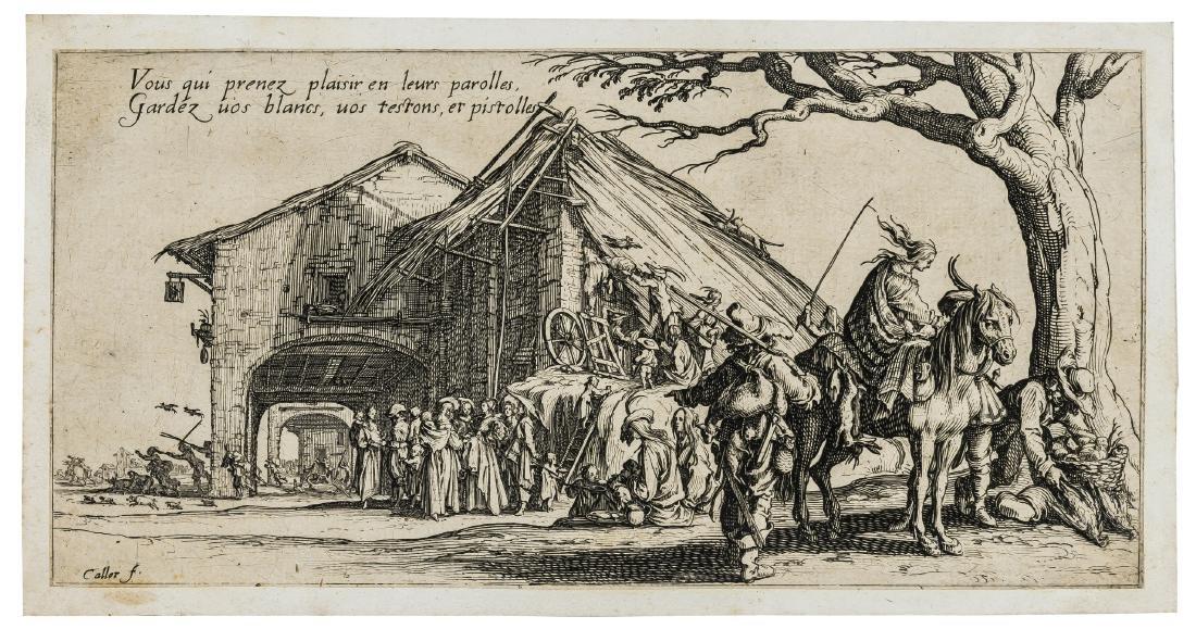 Jacques Callot (1592-1635)  Le Bohémiens, sé