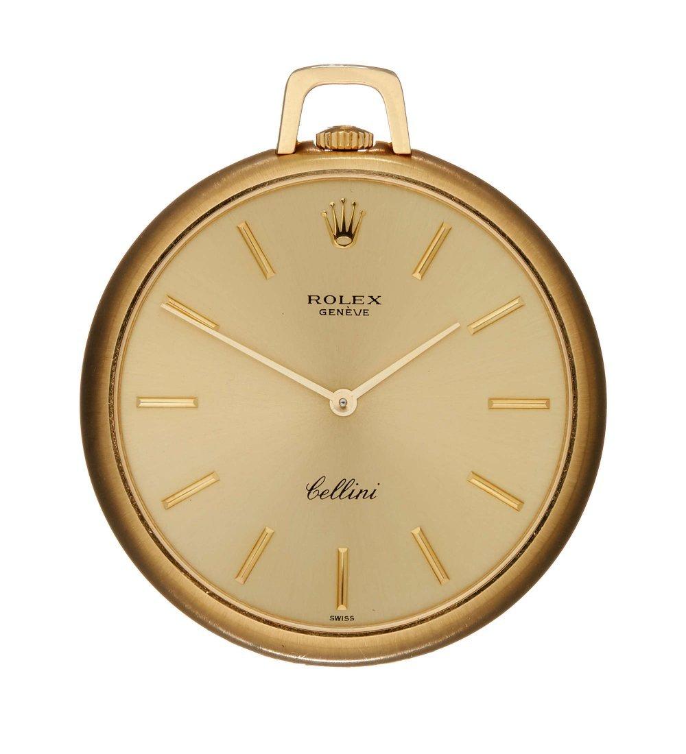 Rolex, Cellini, ref. 33717, an 18 carat gold keyless