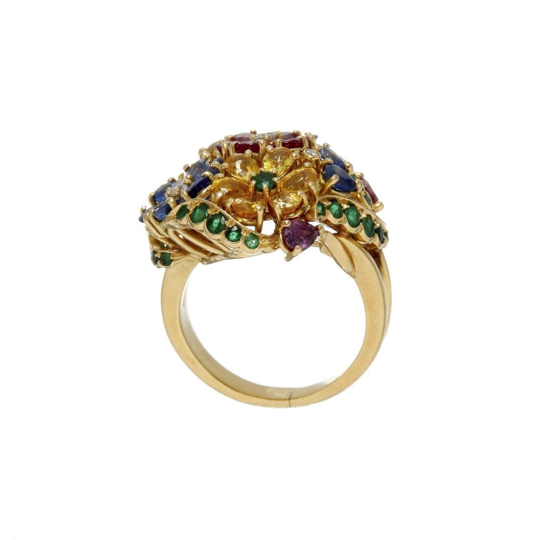 A multi gem set dress ring - 2