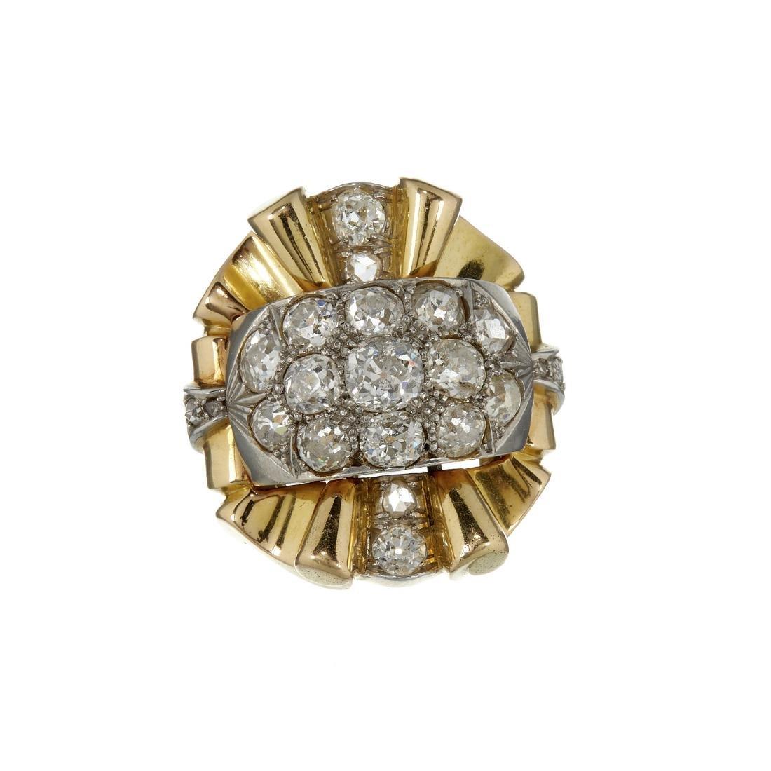 A 1940s Retro diamond dress ring