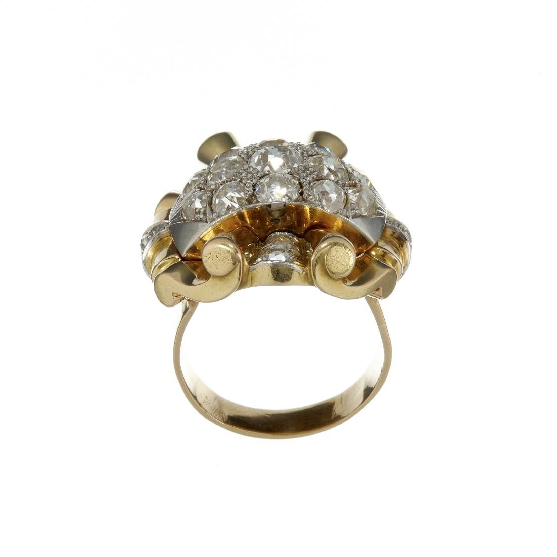 A 1940s Retro diamond dress ring - 2