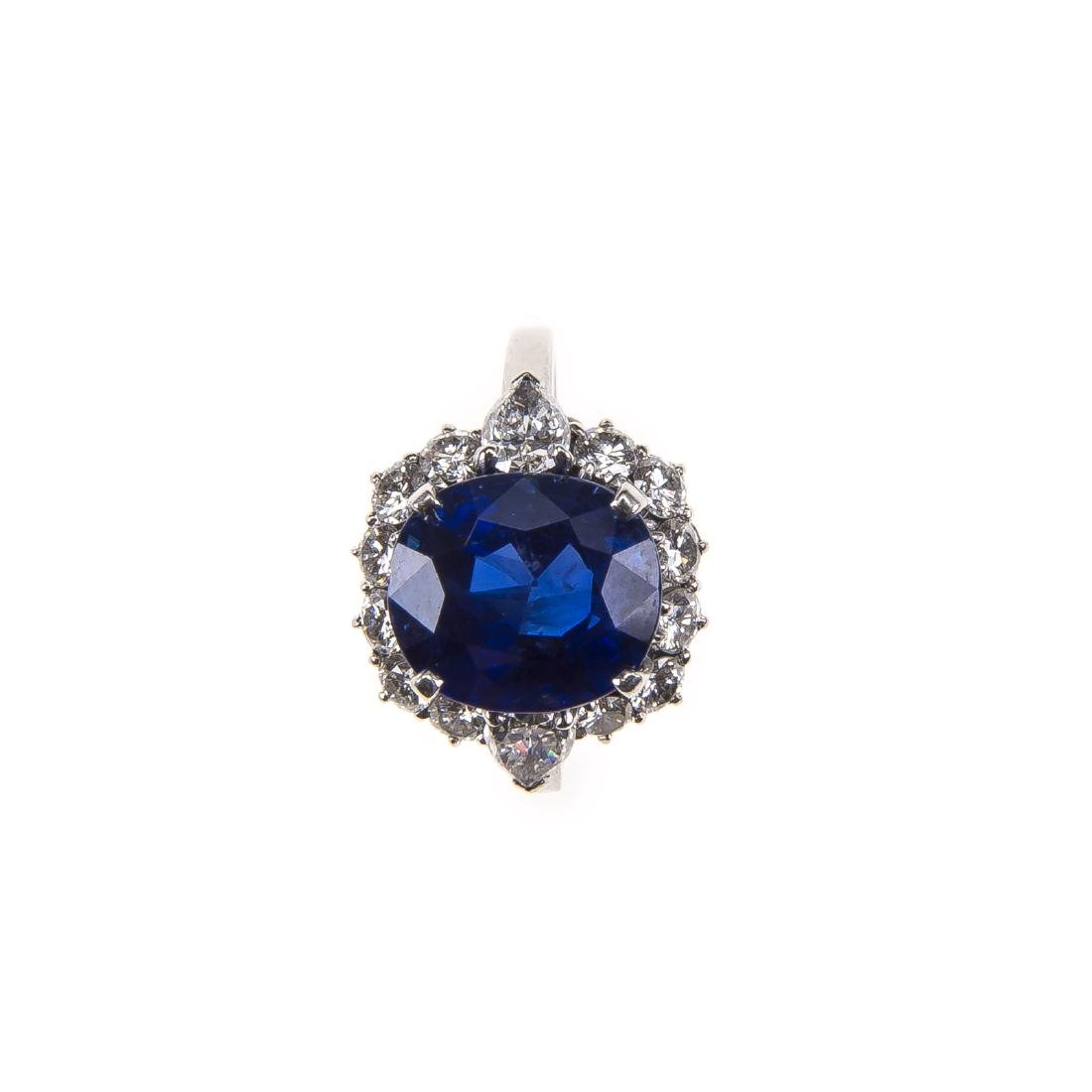 A sapphire and diamond ring by Bulgari