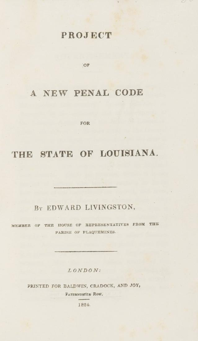 America.- Livingston (Edward) Project of a New Penal