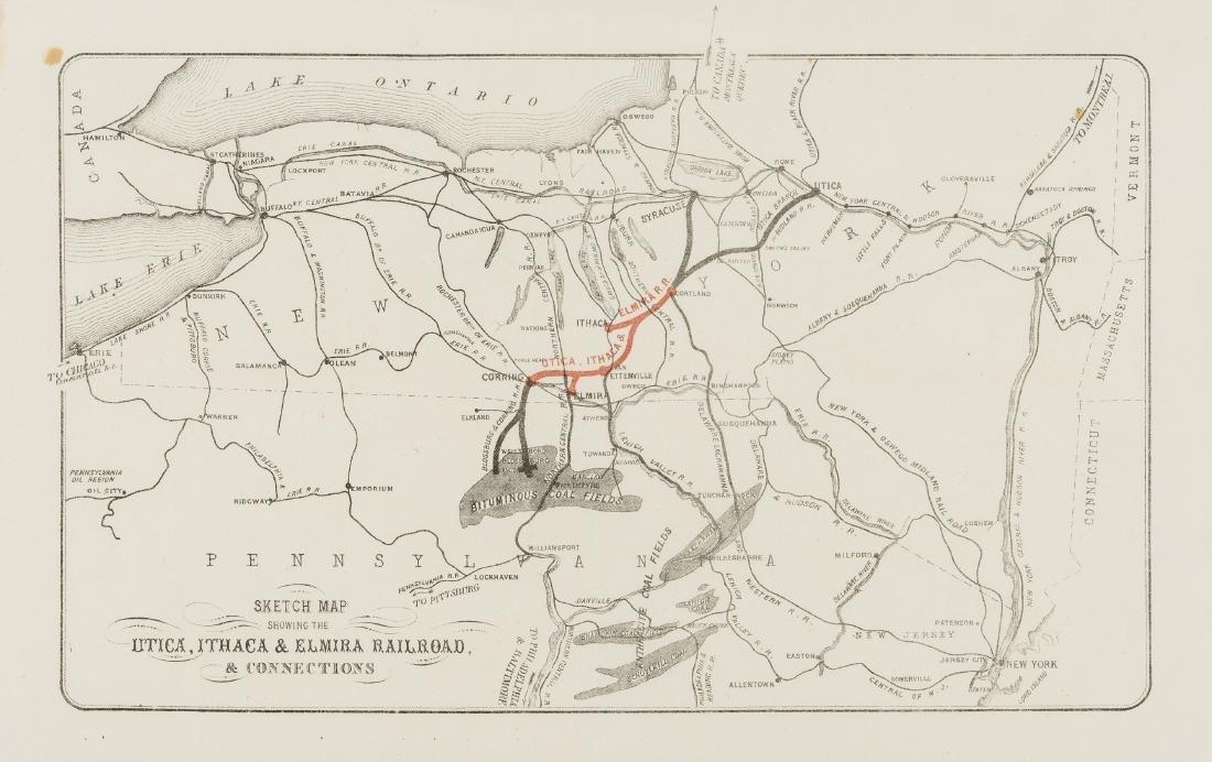 America.- Railroads.- Sketch Map Showing the Utica,
