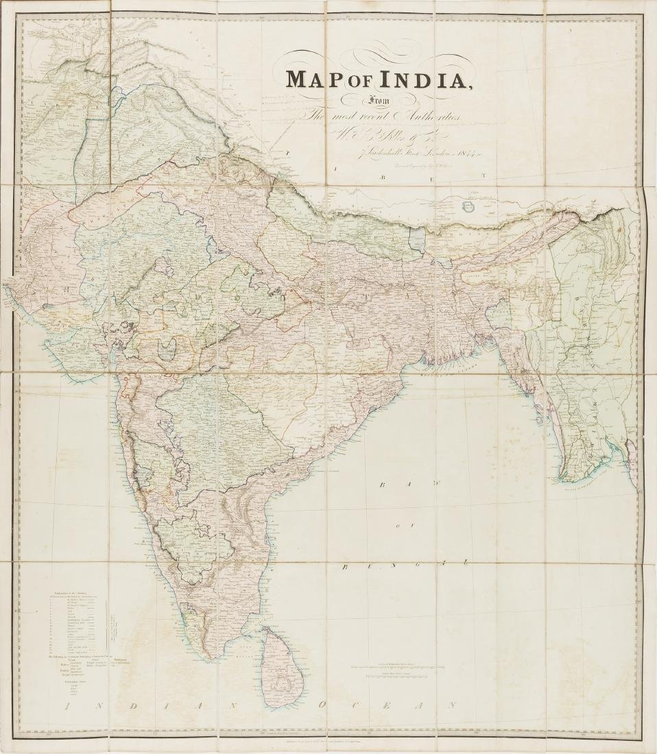 India.- Allen & Co. (William H.) Map of India, from the