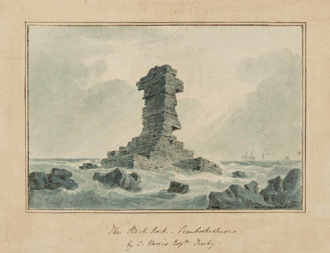 Pembrokeshire.- Norris (Charles, 1779-1858) The Stack